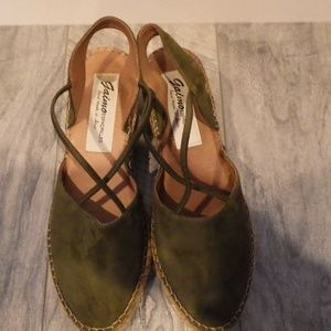 Gaimo Olive Green Espadrilles Sandal CrissCross 39